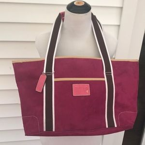 Handbags - Large pink suede tote